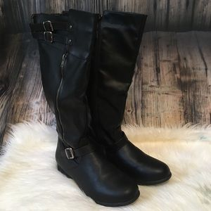Twisted Noah Wide Calf Knee High Boots